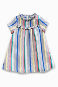 Buy Rainbow Stripe Short Sleeve Dress (3mths-6yrs) online today at Next: United States of America