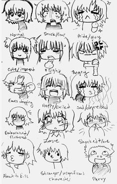 Chibi Expressions by Potential Success on deviantART Drawing feelings Anime expressions Chibi drawings