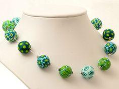 Froschkönig  Polymer Clay Kette Perlen - De... von filigran-Design erhältlich  auf DaWanda.com