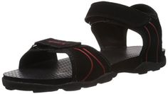 Sparx Men\'s Black and Red Sandals and Floaters - 7 UK (SS-703)