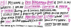 The Office of Kate Bingaman Burt › SHOP.  http://katebingamanburt.com/shop-consume
