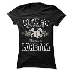 Never Underestimate The Power Of ... LORETTA - 999 Cool - #tshirt illustration #hoodies womens. MORE INFO => https://www.sunfrog.com/LifeStyle/Never-Underestimate-The-Power-Of-LORETTA--999-Cool-Name-Shirt-.html?68278