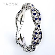 Tacori band - I would love this to go with my ring! Sapphire is my birth stone!
