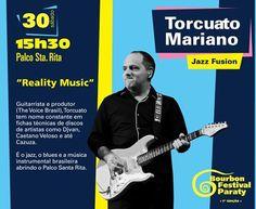 Conheça a Programação do Bourbon Jazz Festival 2015.  Torcuato Mariano Oficial #Guitarrista e #produtor (The Voice Brasil), Torcuato tem nome constante em fichas técnicas de discos de artistas como #Djavan, Caetano Veloso e até #Cazuza. É o jazz, o blues e a música instrumental brasileira abrindo o Palco Santa Rita.  #BourbonFestivalParaty #BourbonFestival #Bourbon #FestivalDeJazz #FestivalDeMúsica #música #jazz #soul #rb #cultura #turismo #Paraty #PousadaDoCareca #NunoMindelis