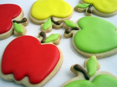 AN APPLE a DAY... Decorated Sugar Cookies