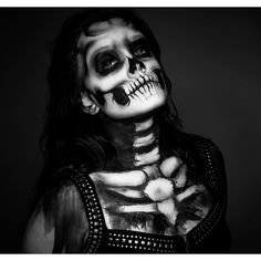 my friend Amanda, she has the creepy feel that I like with this make up