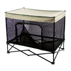 Quik Shade Medium Instant Pet Kennel with Mesh Walls and Elevated Mesh Bed in Tan - BedBathandBeyond.com