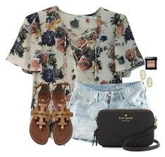 """""""~t h u r s d a y~"""" by flroasburn ❤ liked on Polyvore featuring Urban Outfitters, H&M, Kate Spade, Kendra Scott, Bobbi Brown Cosmetics and Tory Burch"""