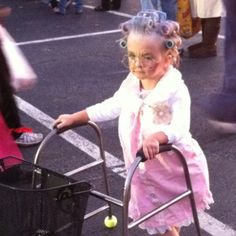 This is my little girl, Bryleigh.. We dressed her up as a little old lady for Halloween and she played the part so well!