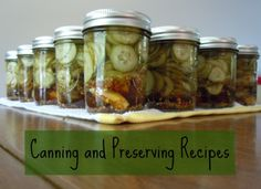 Canning and Preserving Recipes on SolidGoldEats.com - jams, butters, pickles and more