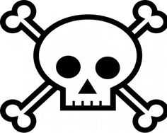 skull and crossbones stencil tattoo clipart best clipart best
