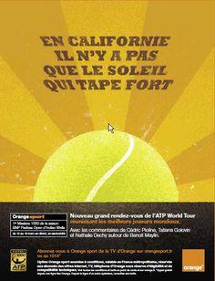 tennis #orange sport #tv d' 'Orange