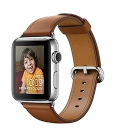 Apple Watch SERIES 2 Stainless steel 42mm (Stainless Steel Case with Saddle Brown Classic Buckle) * Find out more about the great product at the image link.