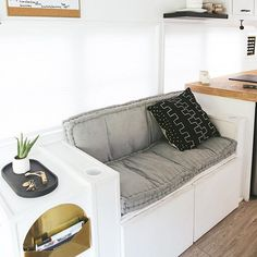 👋🏻our family (and bus!) is being featured over on Apartment Therapy today! I'll post the link in our stories so you can check out the interview with us and the links to buy everything in our bus! Camper Renovation, Camper Remodeling, Accent Pillows, Throw Pillows, Trailer Remodel, Stay At Home Mom, Remodeled Campers, Modern Bohemian, Handmade Home Decor