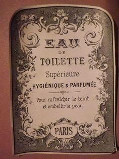 ETIQUETTE PARFUMERIE ANCIENNE - EAU DE TOILETTE Supérie...