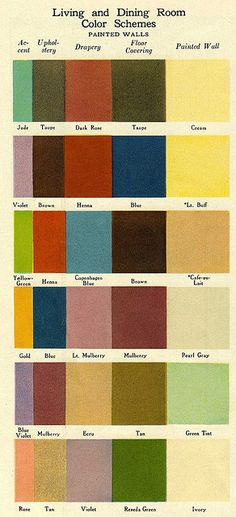 Living and Dining Room Colour Schemes - 1920