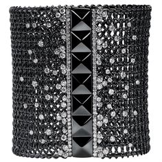 Wide bracelet by Crivelli ~ 5.73 carats of diamonds set in white gold