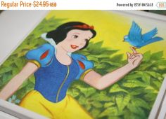 Pre-Moving Sale take 2 Snow White, Ceramic Tile, Drink Coaster!  Set of 4!  Seven Dwarfs & Evil Queen!  Great Housewarming gift, hostess gif