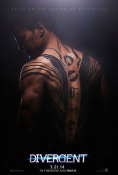 Two brand new 'Divergent' posters released, highlighting Tris and Four's tattoos