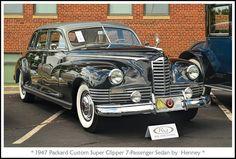 1947 Packard Custom Super Clipper Sedan by Henney Vintage Cars, Antique Cars, Benz Smart, Old Classic Cars, Car Photos, Hot Cars, Motor Car, Concept Cars, Automobile