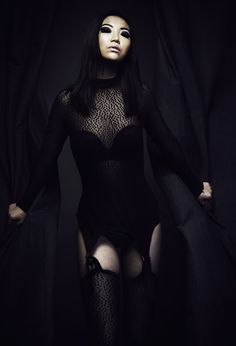 Model Jessie Yang wearing `The Suit`by Veruca Cyn. Photo by Julius and James Makeup by Rita Stirpe. Jessie, Goth, Suits, Makeup, Model, How To Wear, Style, Fashion, Gothic