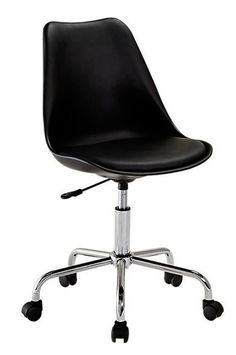 With elegant curvatures and smooth wheel movement, the Stevie Office Chair, Black from Zanui updates your home office with modern style. Chairs For Sale, Black Fabric, Home Office, Kids Room, Chrome, Ebay, Design, Home Decor, Bed Rooms