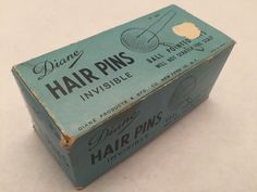 Vintage Box of Hair Pins Bobby Pins Ball Pointed Tips Diane Products New York | eBay