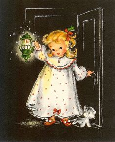 Christmas Lantern Girl | Inside of card reads: It's time to … | Flickr