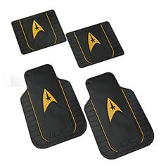 When you've spent all day out with the Landing Party, you don't want to have to clean the alien soil off your boots before you go back to your quarters to relax. With these Star Trek automotive Floor Mats, you just have to occasionally shake them off.