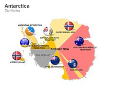 Editable PowerPoint Map: Antarctica Map