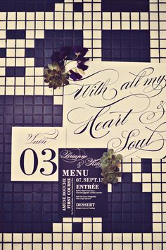 #calligraphy  Photography: Tamiz Photography - tamizphotography.com  Read More: http://www.stylemepretty.com/canada-weddings/2014/03/05/urban-inspired-wedding-inspiration-in-vancouver/