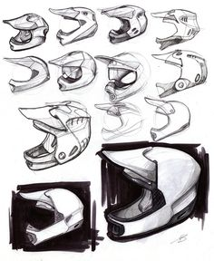 Sketch work on Behance (Tom Sykes) Cool Sketches, Drawing Sketches, Drawings, Id Design, Sketch Design, Sketch Inspiration, Design Inspiration, Design Ideas, Mtb Helm