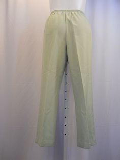 34a0811858e Alfred Dunner Size 16 Winter Palace Pants Solid Green Proportioned Short  Women s  AlfredDunner  CasualPants
