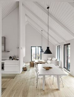 Beautiful Wooden Floor Inspiration. Minimalist Home Decor Ideas. White  Walls And Pale Wood Decor