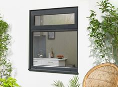 The Status/Supreme White x top opener aluminium casement windows are contructed from thermally broken premium quality aluminium for enhanced thermal efficiency Grey Windows, Casement Windows, Supreme Windows, Grand Designs Show, External Bifold Doors, Double Window, Aluminium Windows, Door Sets, Folding Doors