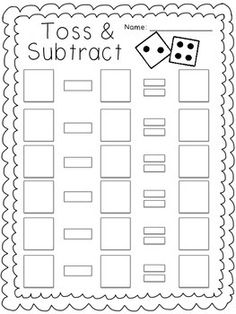 Practice beginning subtraction skills! Kindergarten Math Games, Math Classroom, Teaching Math, Maths, Subtraction Activities, Articulation Activities, Speech Therapy Activities, Play Therapy Techniques, First Day Of School Activities