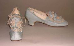 Ensemble Date: ca. 1870 Culture: probably French Medium: silk, linen. Shoes