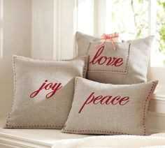 ** Terrific love these pillows! I like that the love pillow has a pocket - such an incredible concept...