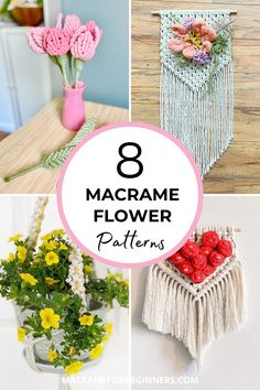 Learn how to make beautiful Macrame flowers with 8 amazing free Macrame patterns by Simply Inspired. From lavender and tulips to daisies and forget-me-nots, these Macrame flowers will stay perfect forever! Macrame Flowers? Simply follow the steps in these beginner-friendly tutorials and knot yourself a pretty bouquet of Macrame lavender, tulips, and sunflowers. #macrame #macrameforbeginners #flowers #crafts #diy Daisies, Sunflowers, Tulips, Free Macrame Patterns, Flower Patterns, Macrame Supplies, Macrame Cord, Macrame Tutorial, Love Rose