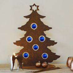 weihnachtsbaum metall edelrost rost 120cm deko tanne. Black Bedroom Furniture Sets. Home Design Ideas