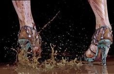 Marilyn Minter, Shit-Kicker, Chromogenic print, 8 × 13 in. Edition no. Whitney Museum of American Art, New York; gift of Beth Rudin DeWoody Marilyn Minter, Whitney Museum, Shoe Art, Fashion Gallery, Paintings For Sale, Portrait, American Artists, Heavy Metal, Art Photography