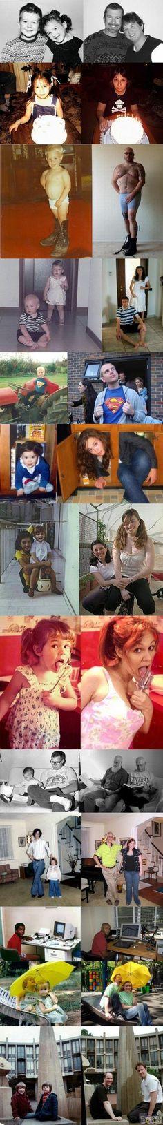 Recreating #childhood photos