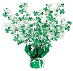 Beistle 30805 Shamrock Gleam 'N Burst Centerpiece. This Shamrock gleam and burst centerpiece is just what you need to add to your decor for St. It is green and white metallic and measures 15 Inch tall. St Patrick's Day Decorations, Centerpiece Decorations, Table Centerpieces, White Centerpiece, Happy St Patricks Day, Saint Patricks, Party Accessories, Kitchen Accessories, Party Themes