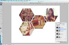 How to make hexagon photos by Kelly Purkey  http://www.kellypurkey.com/its_me_kp/2012/04/how-to-make-hexagon-photos.html