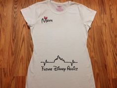 Hey, I found this really awesome Etsy listing at https://www.etsy.com/listing/226094999/future-disney-addict-maternity-t-shirt