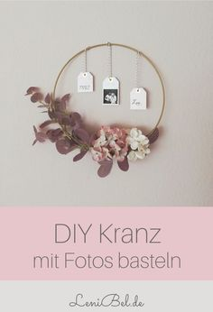 DIY Herbst Deko DIY autumn decoration - metal ring / autumn wreath with photo for a lot of cosiness Ideas Geniales, Autumn Wreaths, Fall Diy, Diy Wreath, Diwali, Handicraft, Fall Decor, Christmas Diy, Diy And Crafts