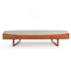 """Danish Modern Daybed Designer: Borge Mogensen Material(s): oiled teak, upholstery of your choice Dimensions: 80""""w x 40""""d x 19""""h - See more at: http://www.danishteakclassics.com/products/danish-modern-daybed-2/#sthash.Y3AZqRhp.dpuf Dimensions: 80""""w x 40""""d x 19""""h"""