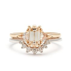 Bea engagement ring 14k gold unique, alternative ceremonial jewelry – Anna Sheffield Jewelry