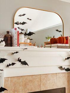 Halloween Mantel, Halloween This Year, Halloween Crafts, Holiday Crafts, Halloween Decorations, Halloween Costumes, Holiday Decor, Orange Book, Cheap Holiday