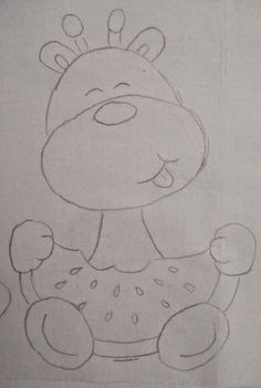 Art Drawings For Kids, Chalk Drawings, Drawing For Kids, Easy Drawings, Sewing Appliques, Applique Patterns, Applique Designs, Embroidery Designs, Quilt Baby